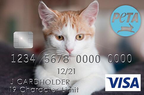 The PETA Visa® Platinum Rewards Card